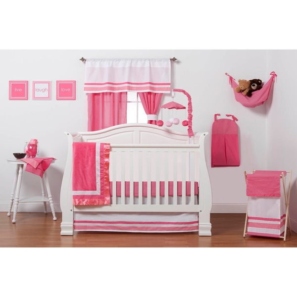 One Grace Place Simplicity Hot Pink Infant 3-piece Crib Bedding Set