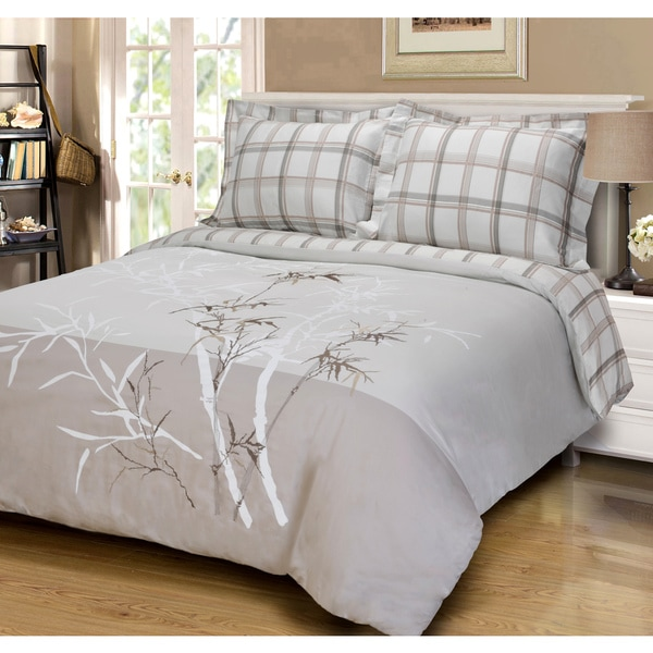 Luxor Treasures Impressions Cotton Elmwood 3-piece Duvet Cover Set