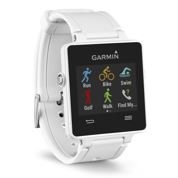 Garmin Vivoactive GPS Fitness Smart Watch + Heart Rate Monitor Bundle (White)