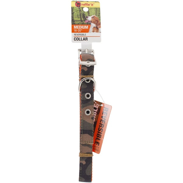 Westminster Medium Reversible Camo/Safety Orange Dog Collar