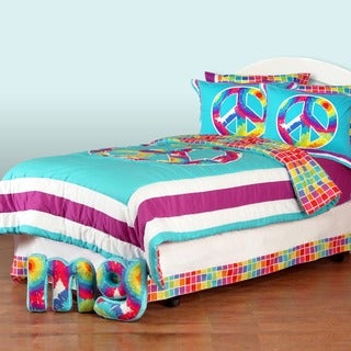 Terrific Tie Dye 8-piece Bed in a Bag with Sheet Set