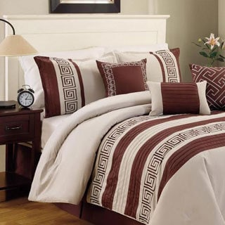 Greek Key 100-percent Cotton 6-piece Comforter Set
