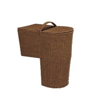 Household Essentials Paper Rope Stair Basket with Handle