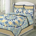 French Star 100-percent Cotton 3-piece Quilt Set