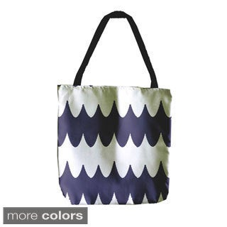 Abstract Geometric Wave 18-inch Tote Bag