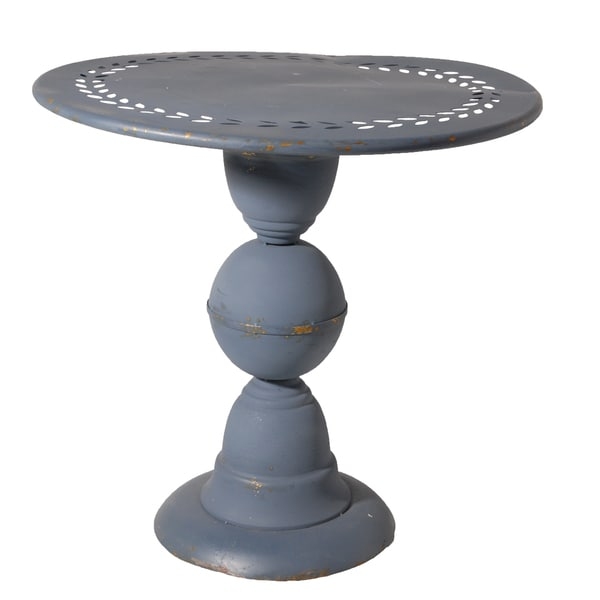 Letitia Distressed Metal End Table