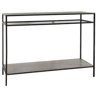 Devin 47-inch Metal and Glass Console Table
