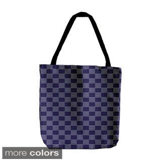 Abstract Checkered Geometric 18-inch Tote Bag