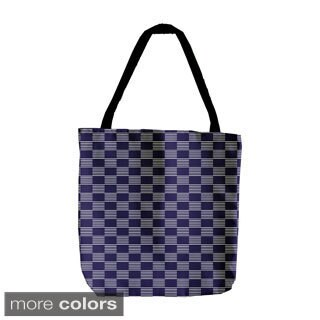 Geometric Abstract Checkered 18-inch Tote Bag