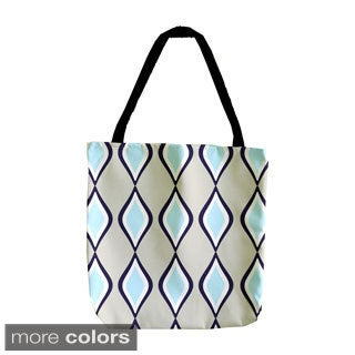 Large Diamond Geometric 18-inch Tote Bag