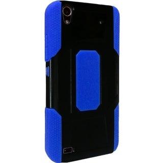 INSTEN Dual Layer Hybrid Rubberized Hard PC/ Soft Silicone Phone Case Cover For ZTE Quartz Z797c