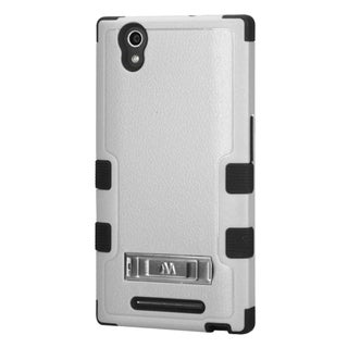 INSTEN Dual Layer Hybrid Rubberized Hard PC/ Soft Silicone Phone Case With Stand For ZTE ZMax