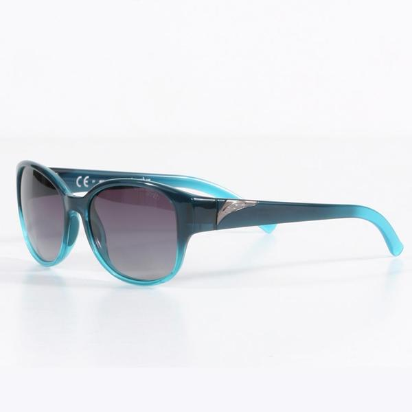 Smith Women's Navy Aqua Fade Lyric Sunglasses with Gray Gradient Lenses