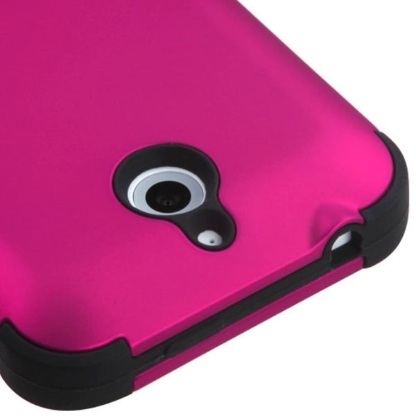 INSTEN Dual Layer Hybrid Rubberized Hard PC/ Soft Silicone Phone Case Cover For HTC Desire 510