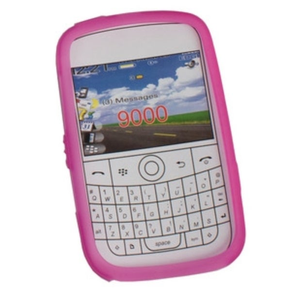 Syba Hot Pink Rubber Soft Silicone Skin Gel Phone Case Cover For BlackBerry Bold 9000