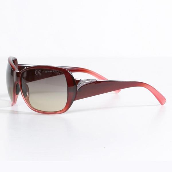 Smith Women's Black Cherry Fade Hemline Sunglasses with Brown Gradient Lenses