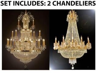 *Set Of 2* 1 for Entryway/Foyer & 1 for Dining Room French Empire Empress