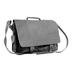 Men's David King Leather 181 Porthole Briefcase Simple Black