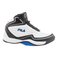 Men's Fila Import Basketball Shoe White/Black/Prince Blue