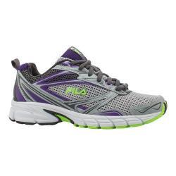Women's Fila Royalty Running Shoe Metallic Silver/Electric Purple/Green Gecko