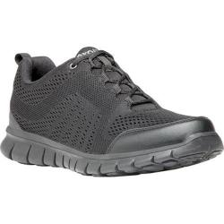Men's Propet McLean Mesh Bungee Lace Shoe Black Mesh