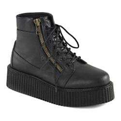 Demonia V Creeper 571 Ankle Boot Black Vegan Leather