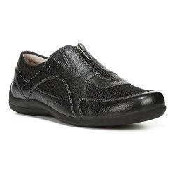 Women's Naturalizer Dresden Zip-Up Shoe Black Leather/Mesh