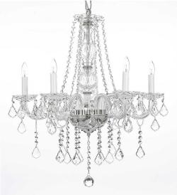 Swarovski Crystal Trimmed Chandelier Lighting H25 x W24