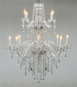 AUTHENTIC ALL CRYSTAL CHANDELIER CHANDELIERS LIGHTING