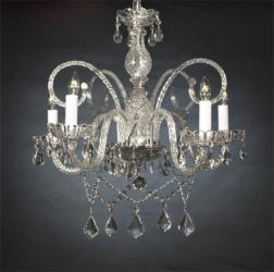 Swarovski Crystal Trimmed Chandelier! New! Authentic All Crystal Chandelier W...