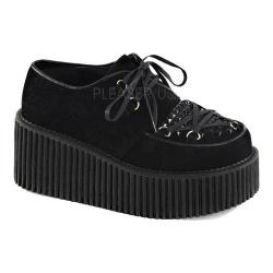 Women's Demonia Creeper 216 Creeper Black Vegan Suede
