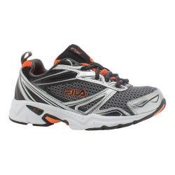 Boys' Fila Royalty Running Shoe Castlerock/Metallic Silver/Vibrant Orange