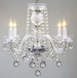 Murano Venetian Style All Crystal Chandelier Lighting H17 x W17