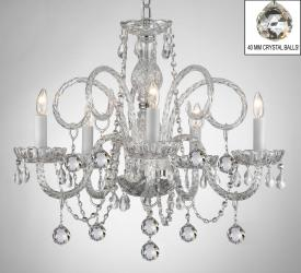 ALL CRYSTAL CHANDELIER LIGHTING CHANDELIERS WITH CRYSTAL BALLS!