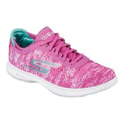 Women's Skechers GO STEP One Off Lace Up Pink