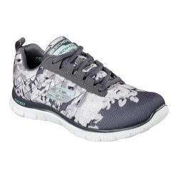 Women's Skechers Flex Appeal Training Sneaker Wildflowers/Charcoal/White