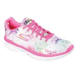 Women's Skechers GOfit TR Bay Rose Lace Up Hot Pink/Multi