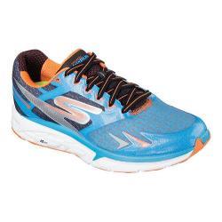 Men's Skechers GOrun Forza Lace Up Blue/Orange