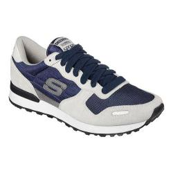 Men's Skechers Relaxed Fit Cormac Sneaker Light Gray/Navy