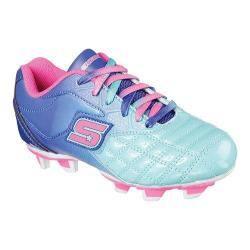 Girls' Skechers Teamsterz Tricky Kicks Soccer Cleat Blue/Aqua