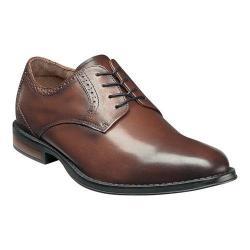 Men's Nunn Bush Riggs Plain Toe Oxford Chestnut Leather