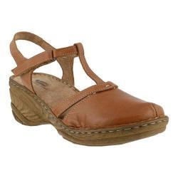 Women's Spring Step Garaitz T Strap Sandal Brown Leather