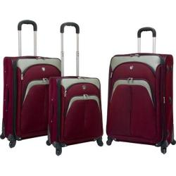 Travelers Club Lexington 3 Piece Expandable Luggage Set Burgundy