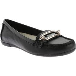 Women's Anne Klein Noris Loafer Black/Black Leather