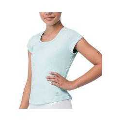 Girls' Fila Net Set Cap Sleeve Top Aqua/White