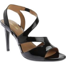 Women's Calvin Klein Niobe Sandal Black Patent