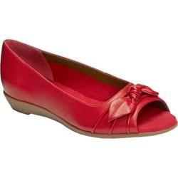 Women's Aerosoles Atta Girl Flat Red Leather