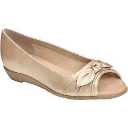 Women's Aerosoles Atta Girl Flat Soft Gold Leather