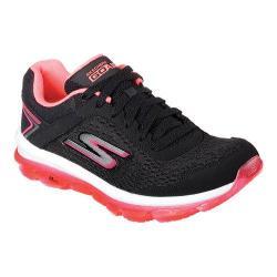 Women's Skechers GOair Lace Up Shoe Black/Hot Pink