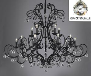 Bellora Crystal Wrought Iron Chandelier Chandeliers Lighting Empress Crystal